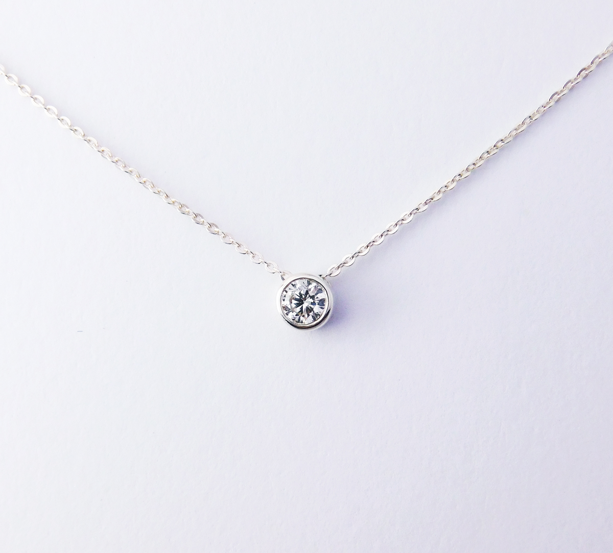 Starlight Solitaire Diamond Pendant